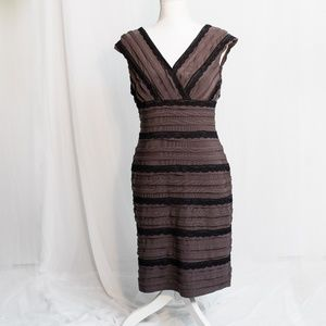 Adrianna Papell Wrap/Mummy/Tiered Lace Dress